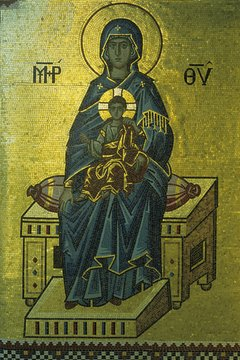 Catholics and Orthodox both honor the Virgin Mary but in different ways.