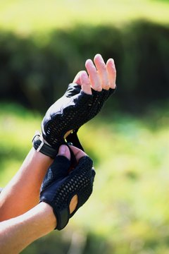 Fingerless gloves are a popular style for weightlifters.