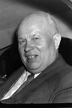 Nikita Khrushchev rose to power in part by condemning Stalin's oppressive leadership and cult of personality.