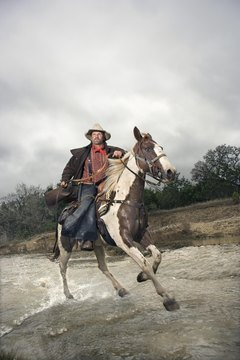 Long distance cattle drives forced cowboys to pack light.