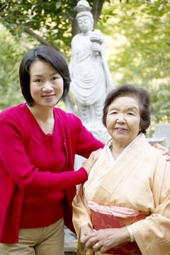 "The Japanese practice the Confucian concept of ""filial piety"" in which children are expected to care for aging parents."