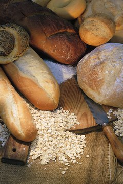 Breads made with wheat flour contain gluten.