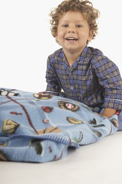 Loud patterns on blankets may overstimulate some children.