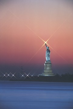 The Statue of Liberty reflects American identity and its value of freedom.