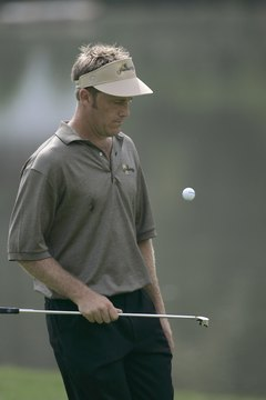 Tiger Woods isn't the only golfer who can bounce a ball off his club, as Stuart Appleby demonstrates.