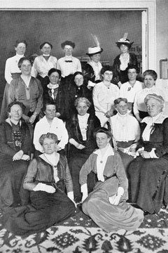This picture shows a gathering of leaders of the suffrage movement.