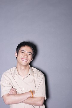 Nervous laughter can be reduced by controlling stress.