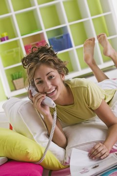 Surprise your crush with a goodnight phone call.