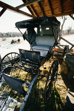 Most Amish travel by horse and buggy, because they attempt to avoid modern means of transportation.