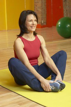 The butterfly stretch is a seated adductor stretch.