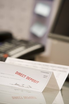 Employers who pay via direct deposit often issue pay vouchers for employee records.
