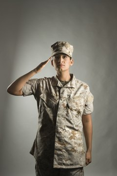 Keep your back straight when saluting.