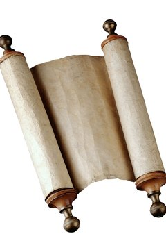 Scrolls are a unique and decorative way to announce glad tidings.