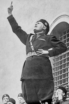 Italian leader Benito Mussolini harbored imperial ambitions.