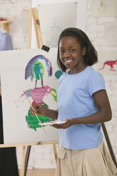 Art appreciation can be encouraged through creative expression activities, such as painting.