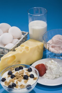 Dairy foods are good sources of calcium, the major mineral found in the body.