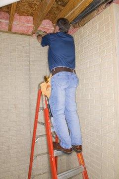 Fiberglass batt insulation is an inexpensive way to insulate a building.