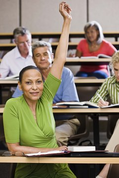 Participating in class discussion enriches the college experience.