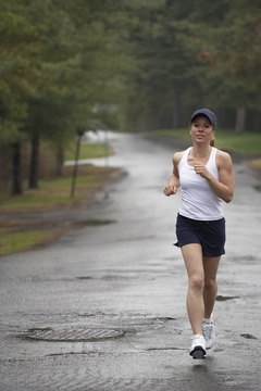 If you think a little rain will keep you from your scenic run, think again.