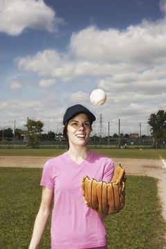 Arm circles warm up your muscles to throw a baseball or softball.