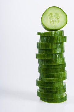 Cucumbers contain 13 vitamins and minerals.