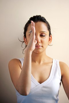 Train yourself to slow down your breath with yoga.