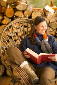 A comfy spot to read doesn't have to be indoors.