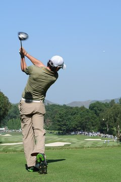 At the finish of his swing, 2011 U.S. Open champion Rory McIlroy has pivoted completely.