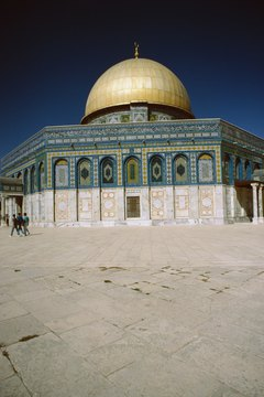 The Dome of the Rock is one of the sacred Islamic structures.