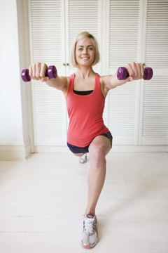 Dumbbells can effectively tone muscles with a variety of exercises.