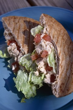Tuna salad can be healthy and delicious.