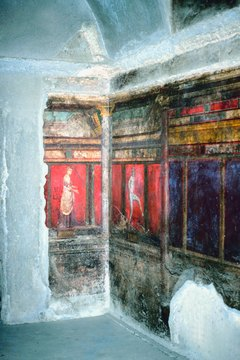 Scenes at the Villa of Mysteries depict the role of deities in rites of passage.
