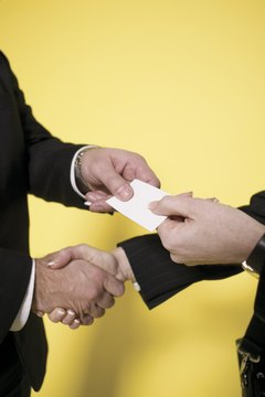 A business card connects buyers and sellers.