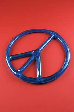 The universal symbol of peaceful protest during the 1960s.