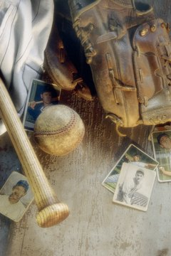 You can transform old baseball gear into a special keepsake shadow box.