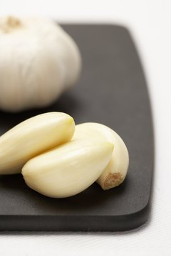 Fresh garlic provides blood thinning benefits.