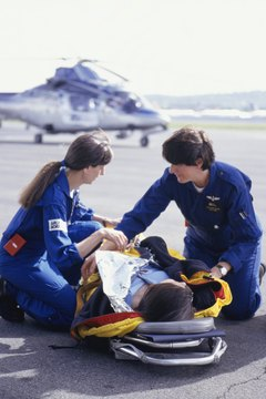 Flight nurses earn similar salaries to RNs.