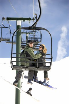 Until chairlifts are designed for snowboarders, you'll have to get creative.