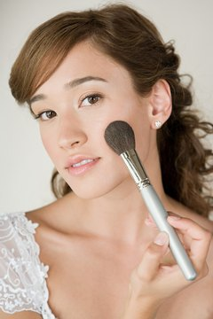 Adding a little blush to your cheeks gives you a fresh, healthy glow.