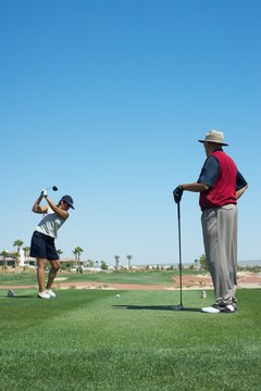 Hip and shoulder rotation are key elements to hitting the driver.