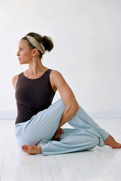 Yoga twists help improve circulation in the back.