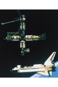 Space shuttles carried many experiments to the International Space Station.