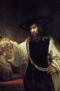 'Aristotle contemplates the bust of Homer', Rembrandt
