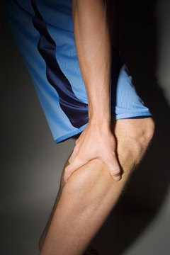 A cramped calf muscle could be a sign of overexertion or dehydration.