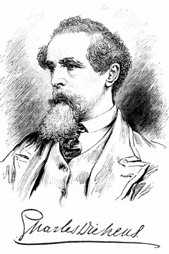 Dickens' novels protested the cruel rich.