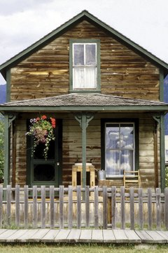 Log homes are common fixtures in very rural areas.