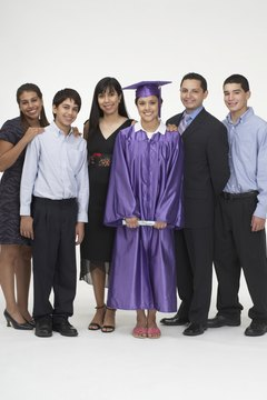 Graduation is a family celebration.