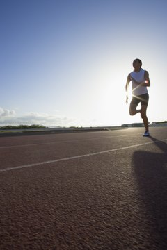 Running requires both upper- and lower-body strength.