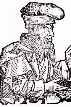 Woodcut of Plato