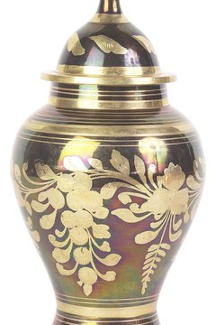 An urn for cremated remains.